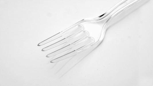 A plastic fork
