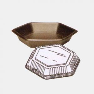 Carry Out Plate with Attached Top, 200 case