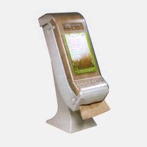 Tork XpressNap dispenser: top pull with sign slots on side